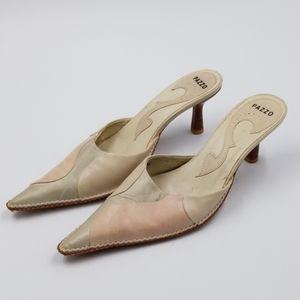Pazzo Pearl & Mint Green Kado Leather Heels Sz 8